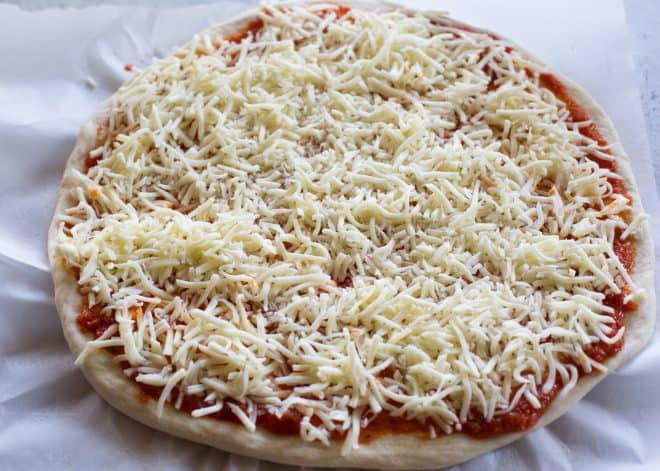 pizza sauce with cheese