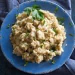 Chicken with Parmesan Cauliflower Rice