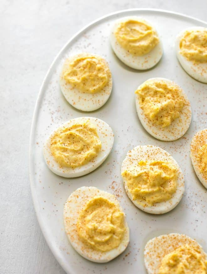 deviled eggs on a plate