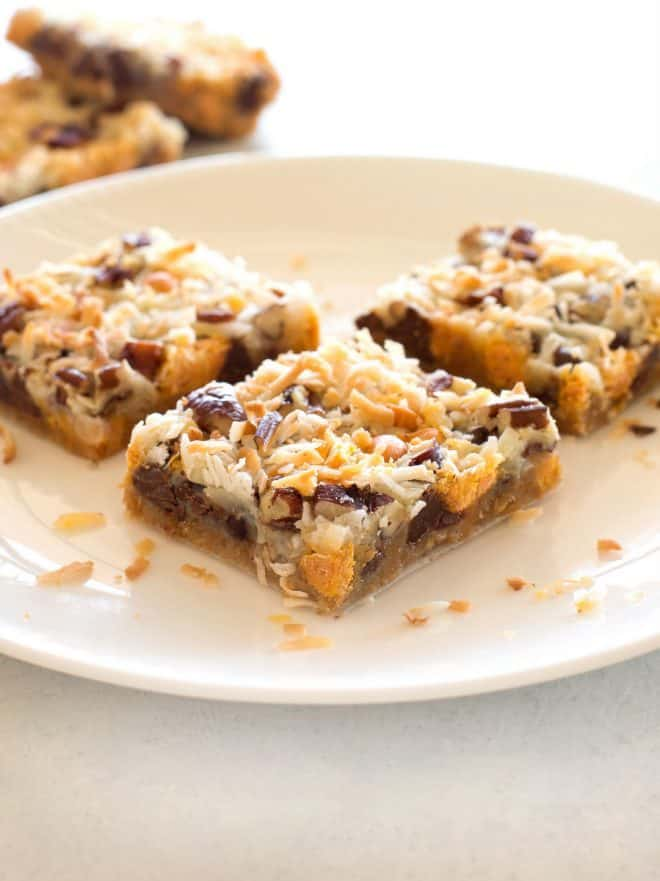 Magic Cookie Bars on a plate