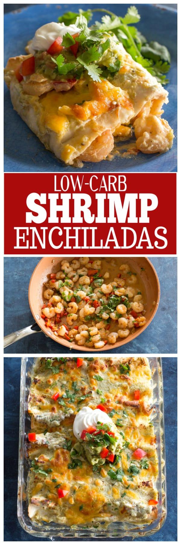 low-carb shrimp enchiladas