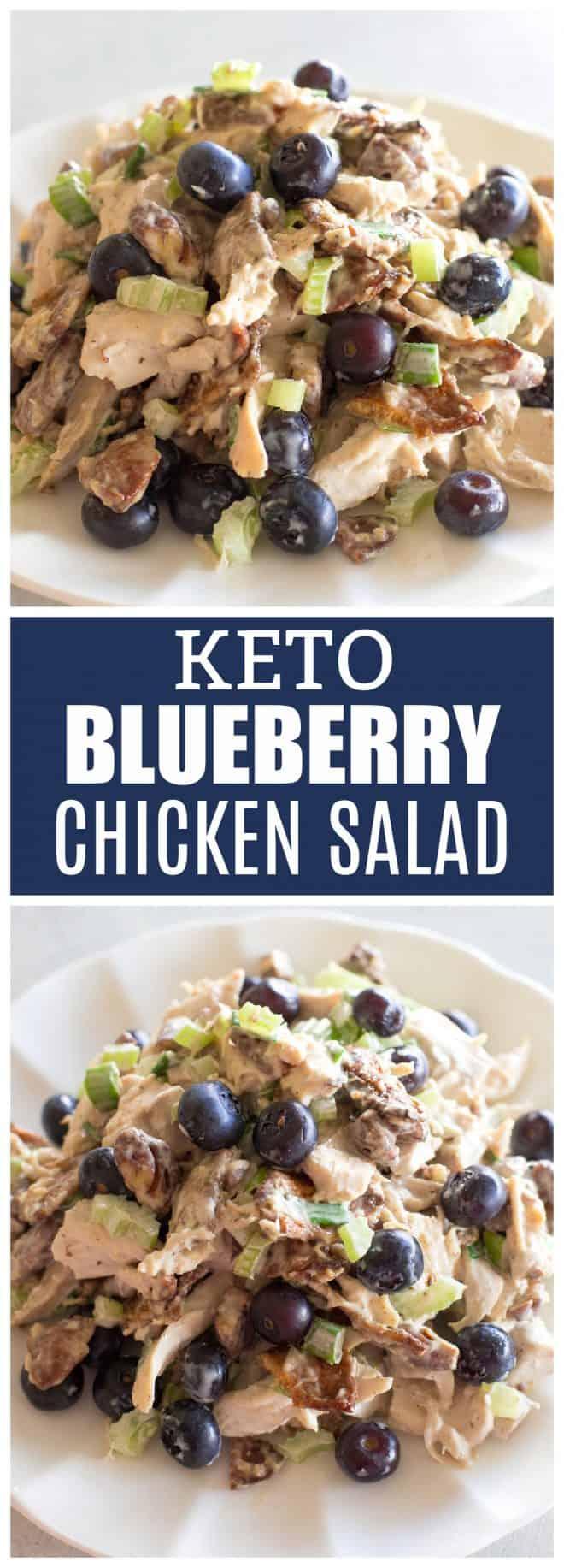Keto Blueberry Pecan Chicken Salad