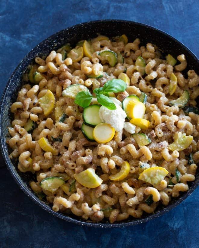 One-pan creamy zucchini pasta