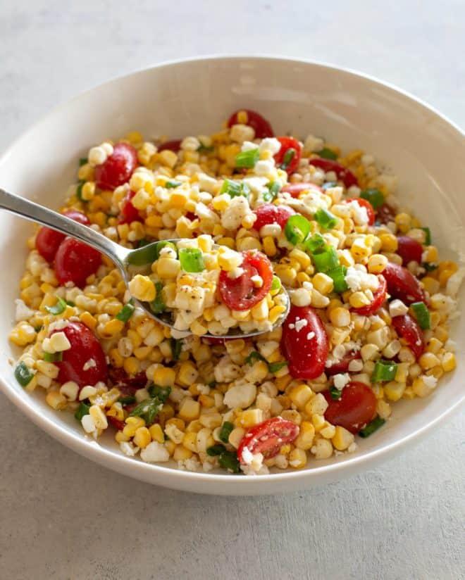 Corn, Tomato, and Feta Salad