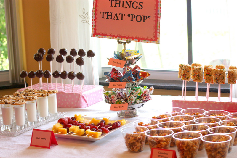 "We had a sweets table made up of all ""Things That Pop"". I know ..."