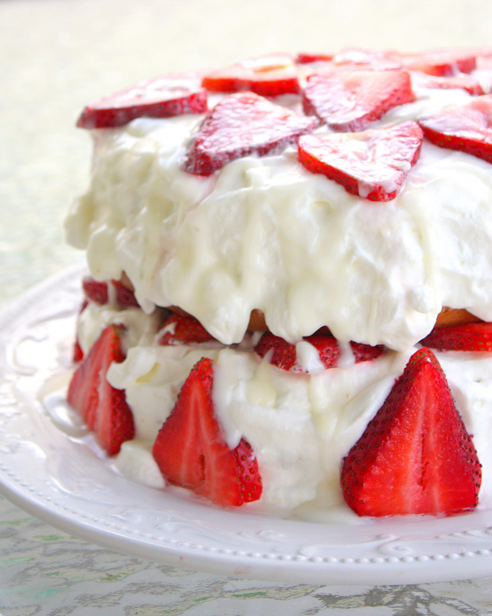 Strawberry Shortcake with Almond Glaze - The Girl Who Ate ...