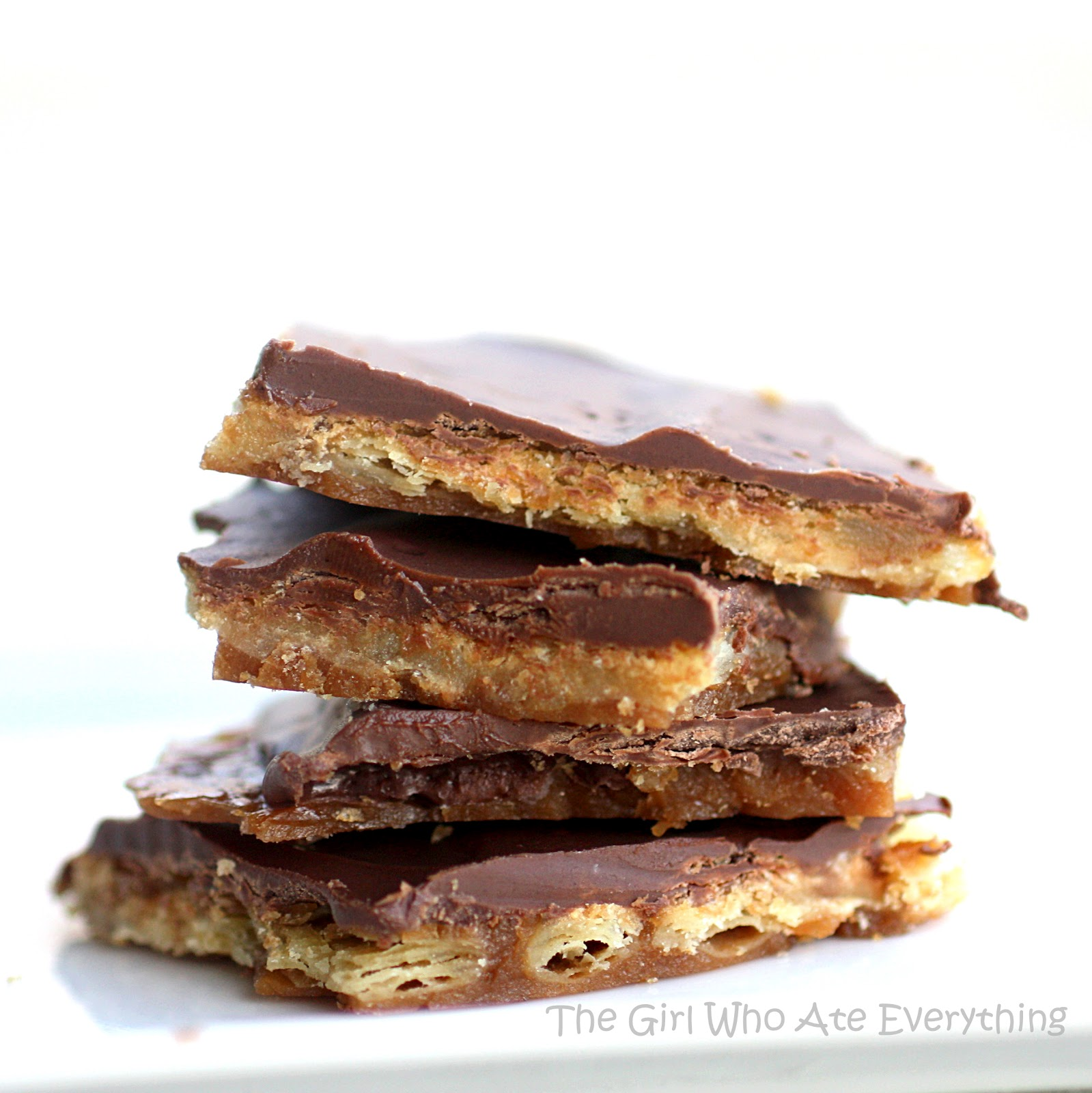 Salted Toffee-Chocolate Squares Recipe — Dishmaps