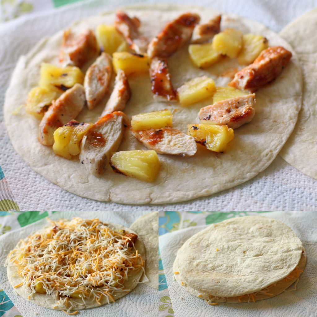 Grilled Chicken & Pineapple Quesadilla Recipe — Dishmaps