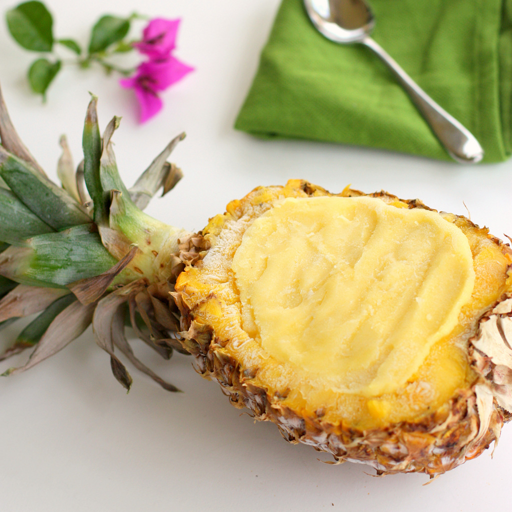 You can cube up your pineapple and save the shell to serve it in!