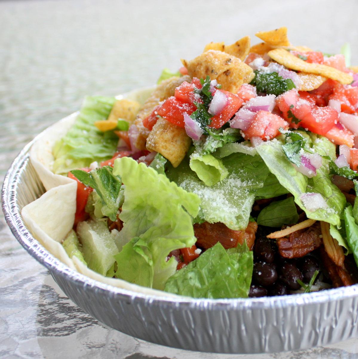 Pork Barbacoa Salad Cafe Rio