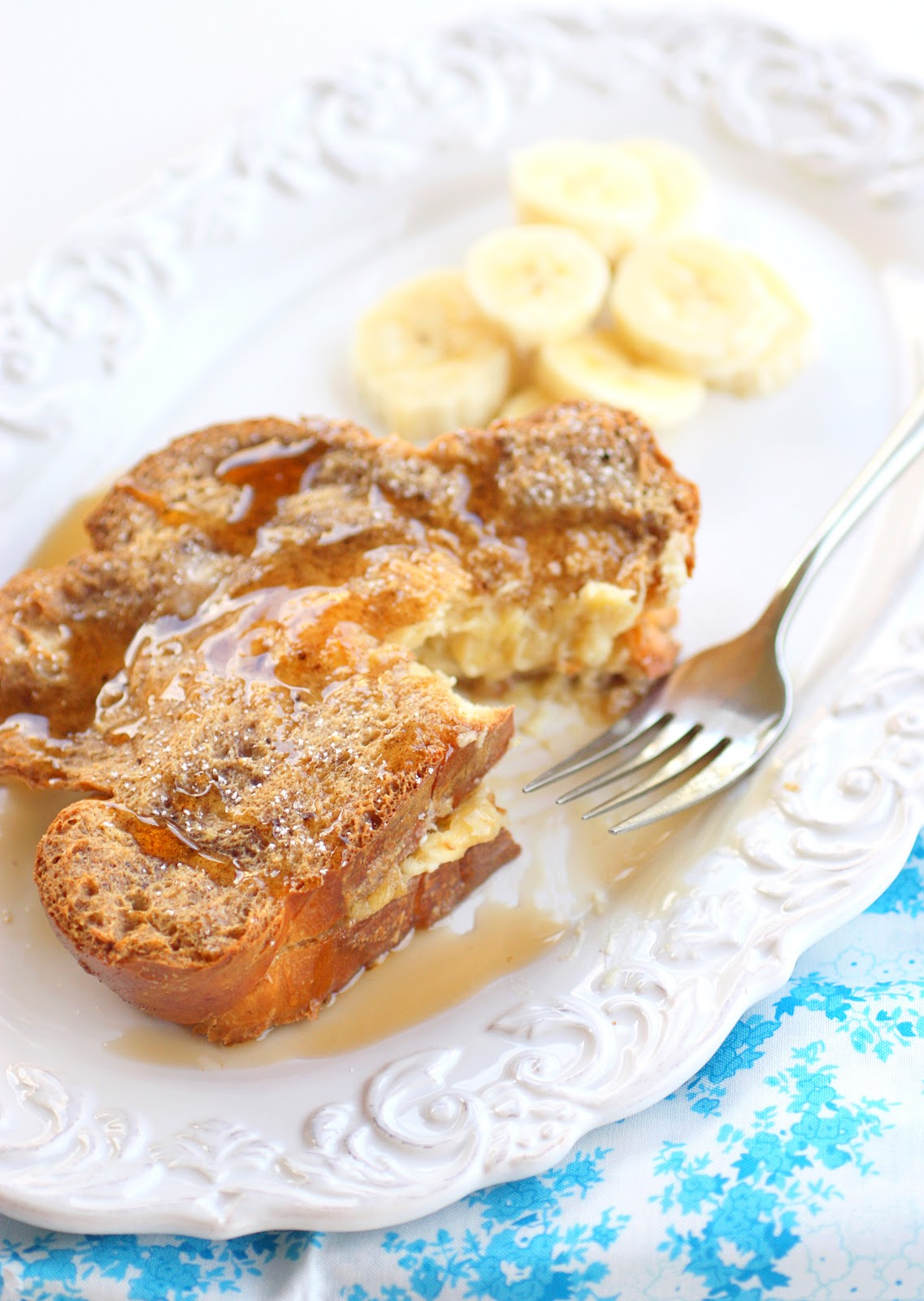 print banana stuffed french toast ingredients 4 tablespoons butter 1 4 ...
