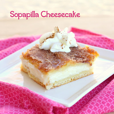 This Sopapilla Cheesecake is layers of cream cheese, crescent dough, and a cinnamon sugar layer. This is the perfect Mexican dessert. the-girl-who-ate-everything.com