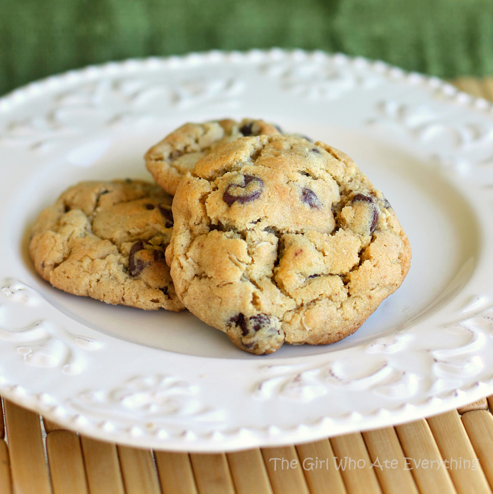 Peanut Butter Oatmeal Chocolate Chip Cookies The Girl Who Ate