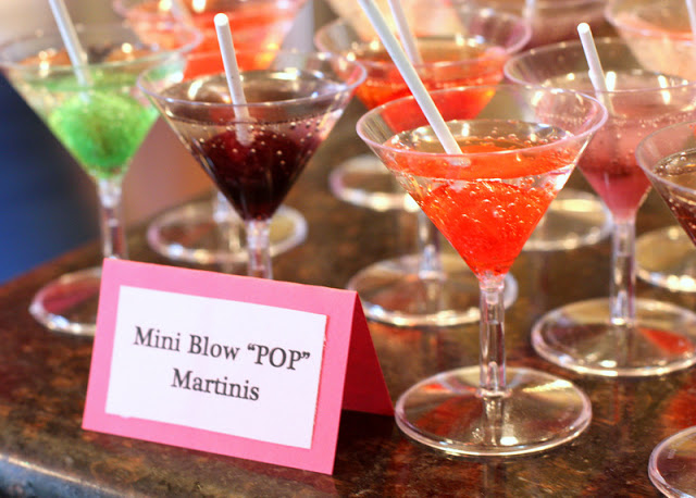... blow pop and stick it in. The blow pop colors and flavors the drink