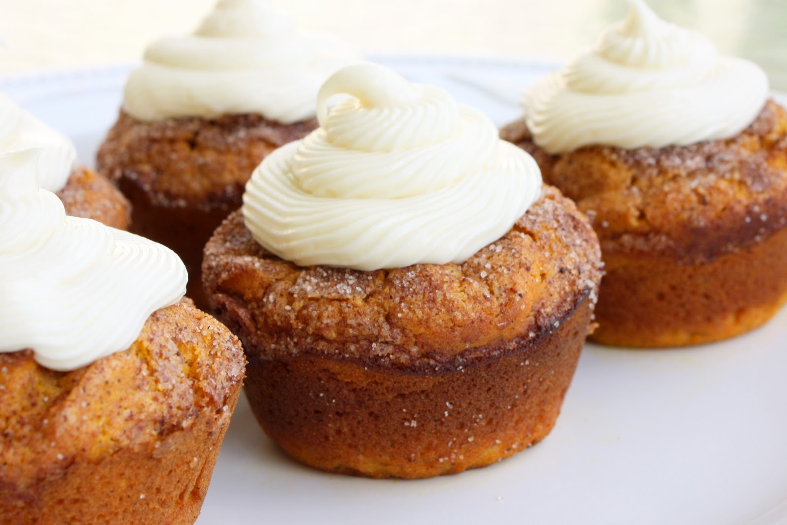 Pumpkin Spice Muffins with Cream Cheese Frosting - The Girl Who Ate ...