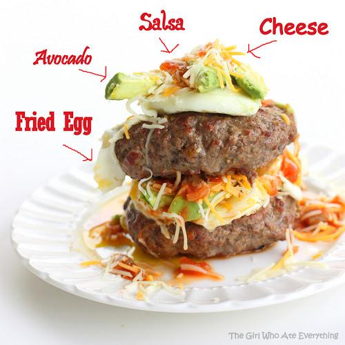 Bunless Fiesta Hamburgers