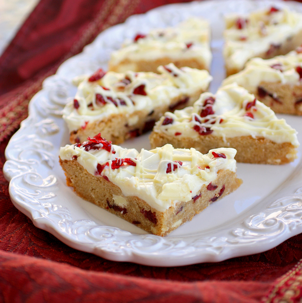 Cranberry Bliss Bars - a knockoff of the Starbuck's treat. A blondie ...