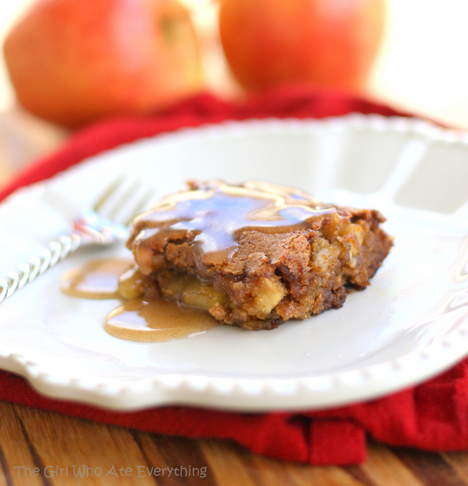 Apple Pudding Cake With Cinnamon Er Sauce The Girl Who Ate Everything
