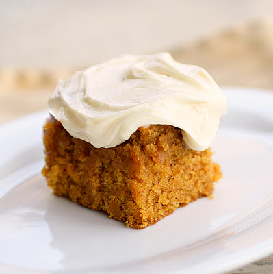 Pumpkin Cake - full of spice and so incredibly moist. the-girl-who-ate-everything.com