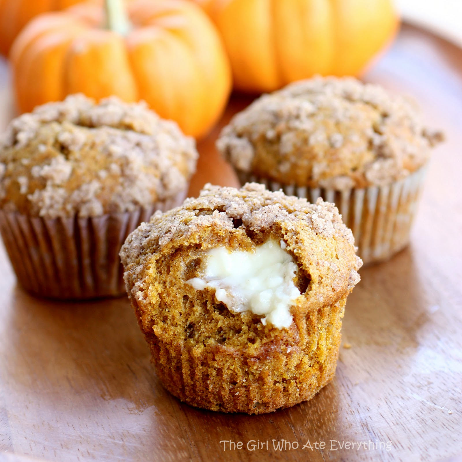 Pumpkin Cream Cheese Muffins The Girl Who Ate Everything
