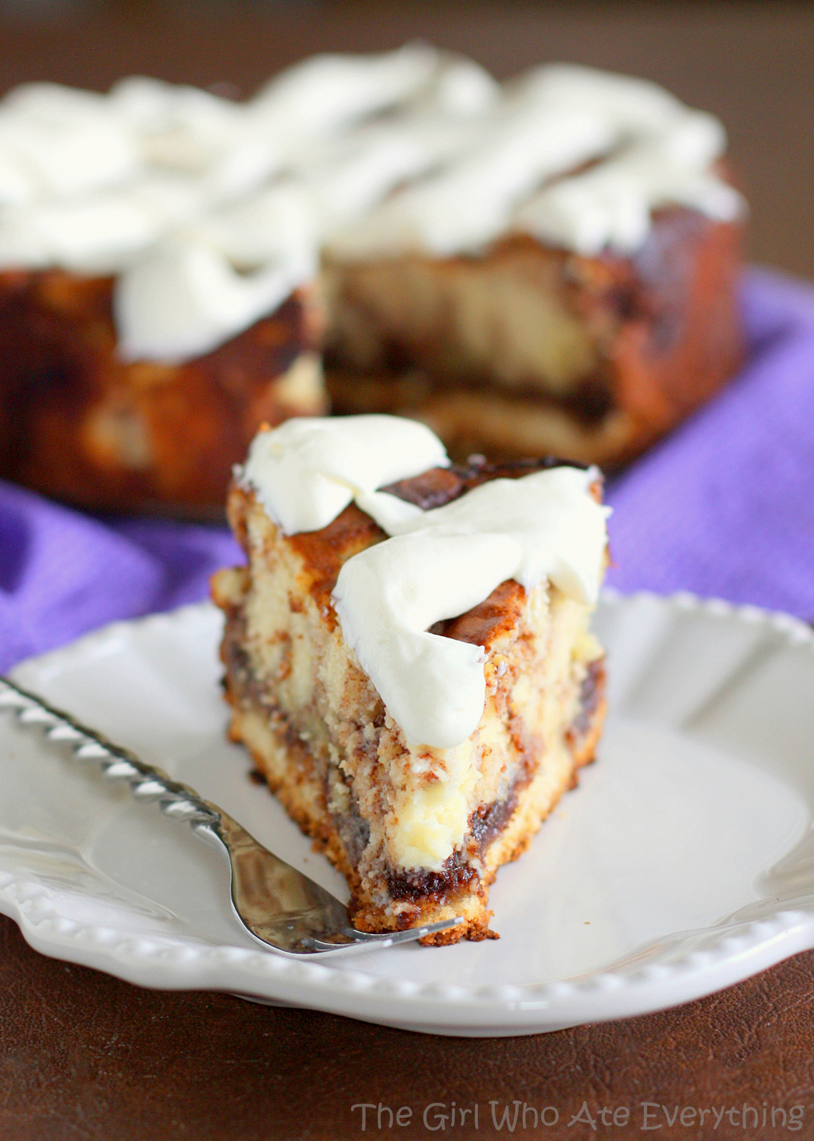 Cinnamon Cream Cheese Roll Cake