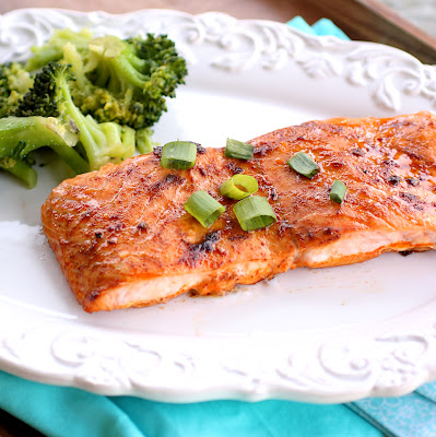 This Chipotle Salmon is spicy and sweet and only has a few ingredients in this healthy dinner recipe!