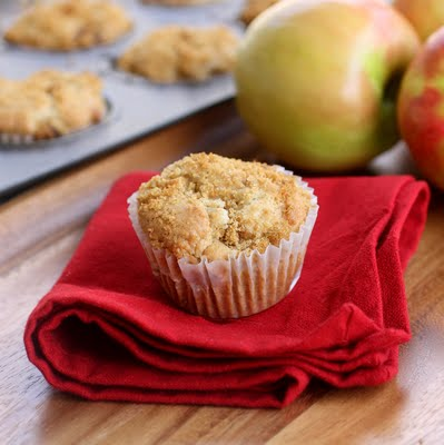 Super moist Apple Muffins with a brown sugar topping! the-girl-who-ate-everything.com