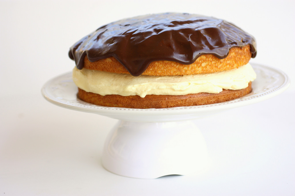 Boston Cream Cake With Cool Whip