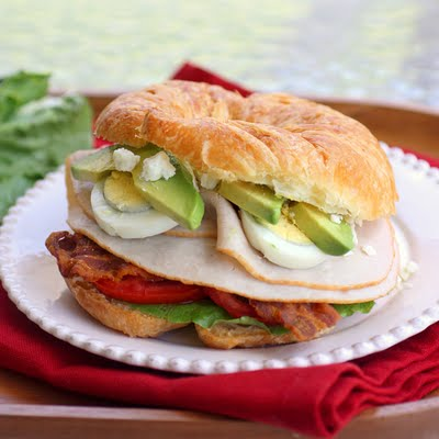 cobb salad sandwich bacon blue cheese