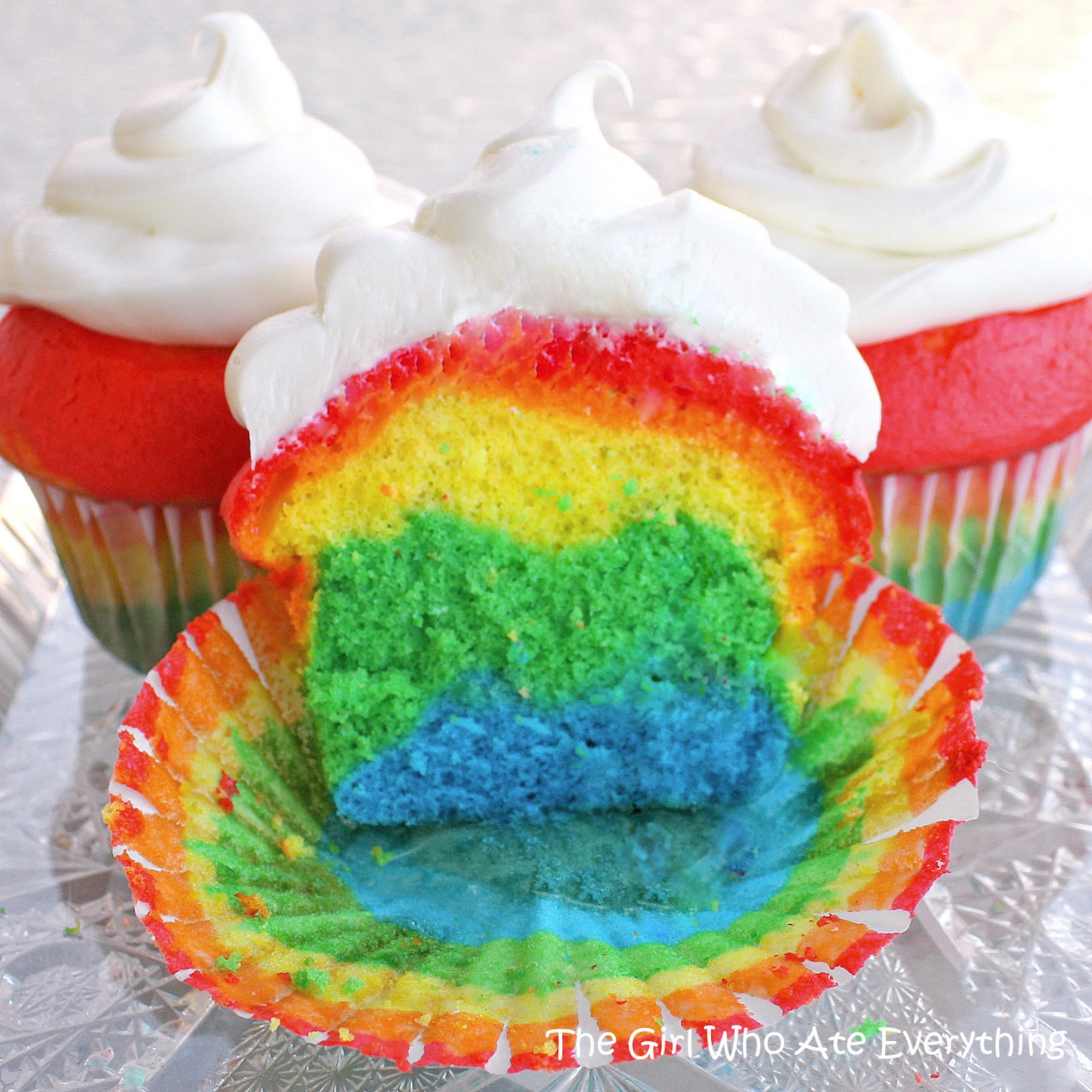 Rainbow Cupcakes The Girl Who Ate Everything