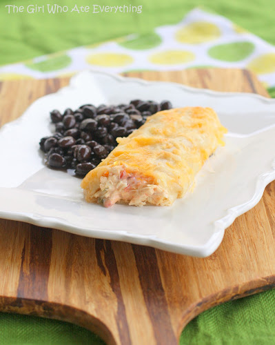 Creamy Chicken Enchiladas - a great Mexican dinner that comes together in no time at all.