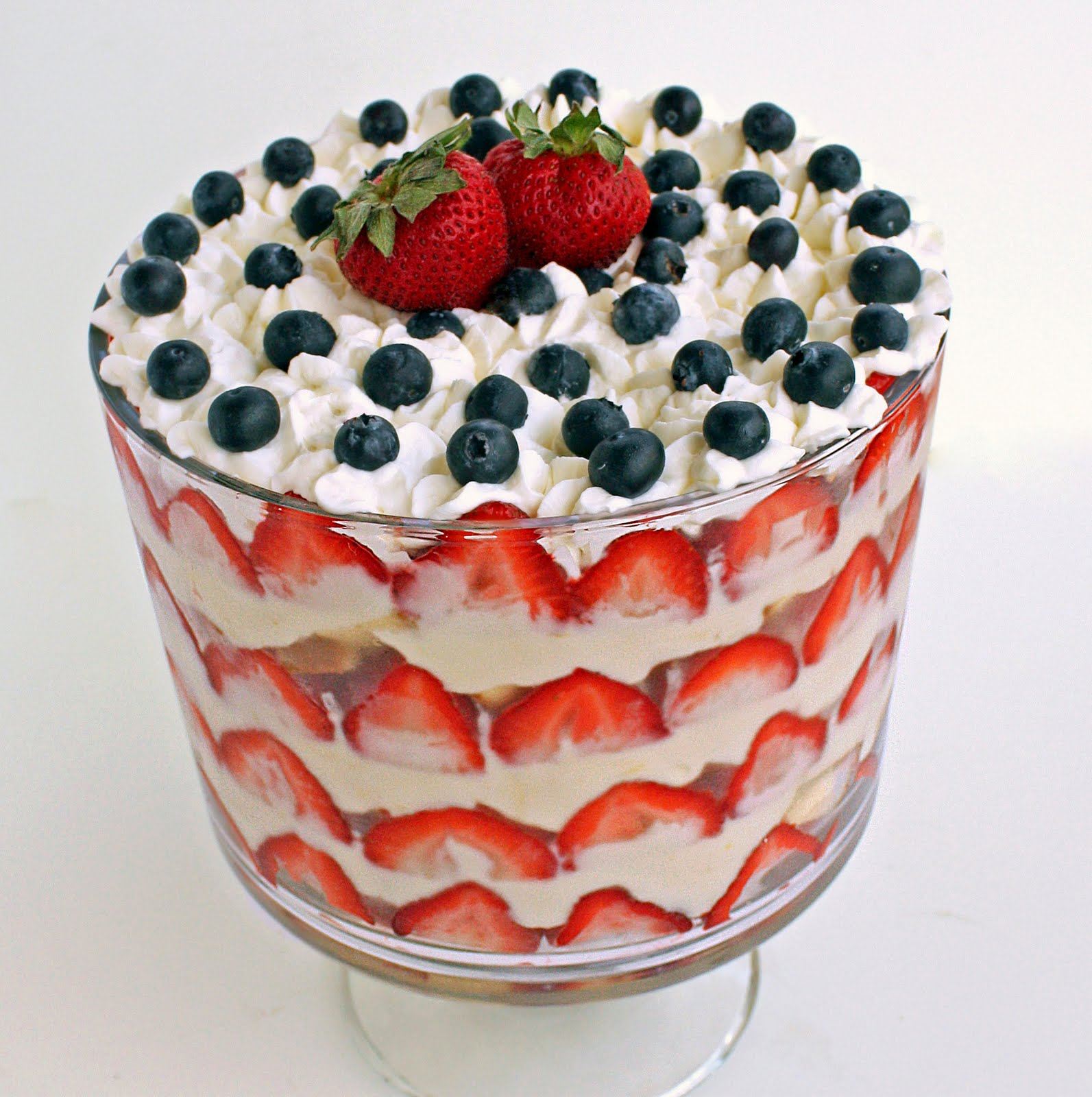 Patriotic Trifle With Angel Food Cake