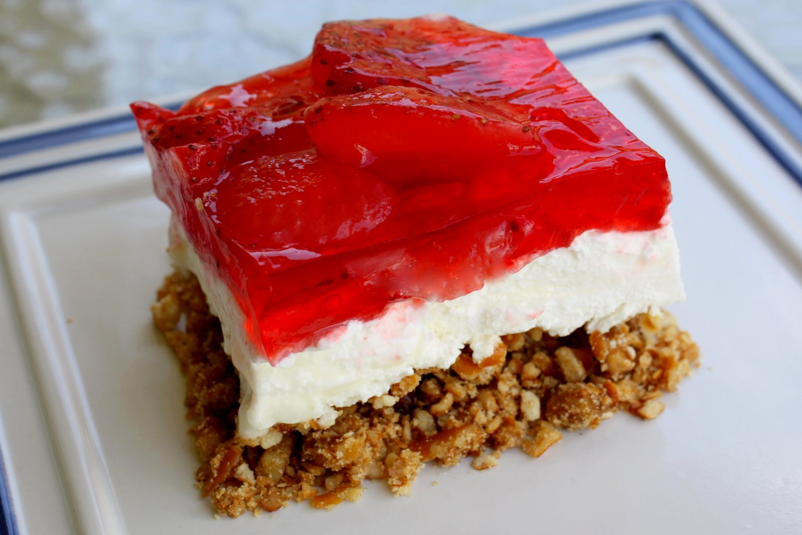 Pics Photos - Strawberry Pretzel Salad Recipe