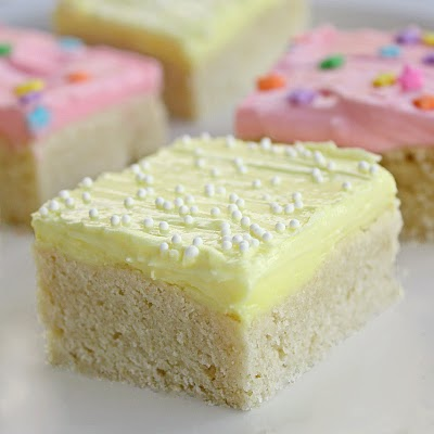 These Sugar Cookie Bars are a great way to make sugar cookies for a crowd.