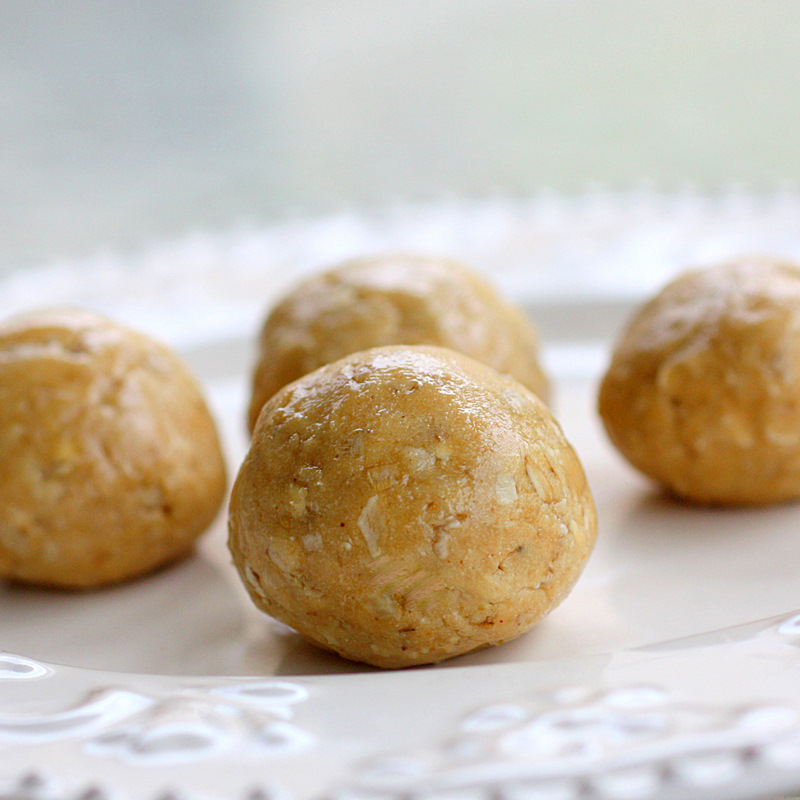 Healthy Peanut Butter Balls - The Girl Who Ate Everything