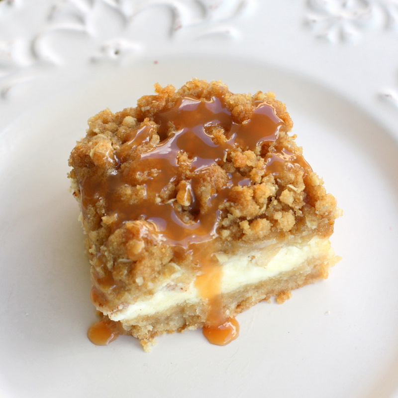Caramel Apple Cheesecake Bars - These bars start with a shortbread ...