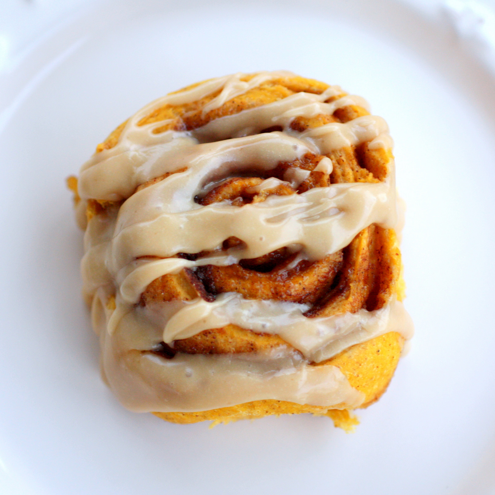 Pumpkin Cinnamon Rolls With Caramel Frosting | The Girl Who Ate ...