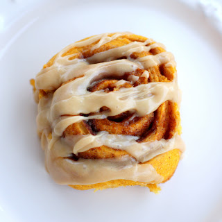 Pumpkin Cinnamon Rolls With Caramel Frosting   The Girl Who Ate Everything