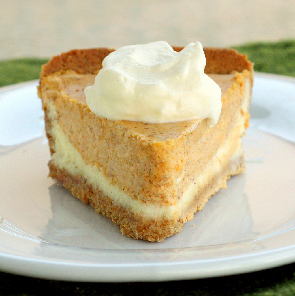 Layered Pumpkin Cheesecake Pie No Bake
