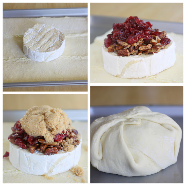 Cranberry Brie En Croute - a festive appetizer that gets devoured in minutes. the-girl-who-ate-everything.com