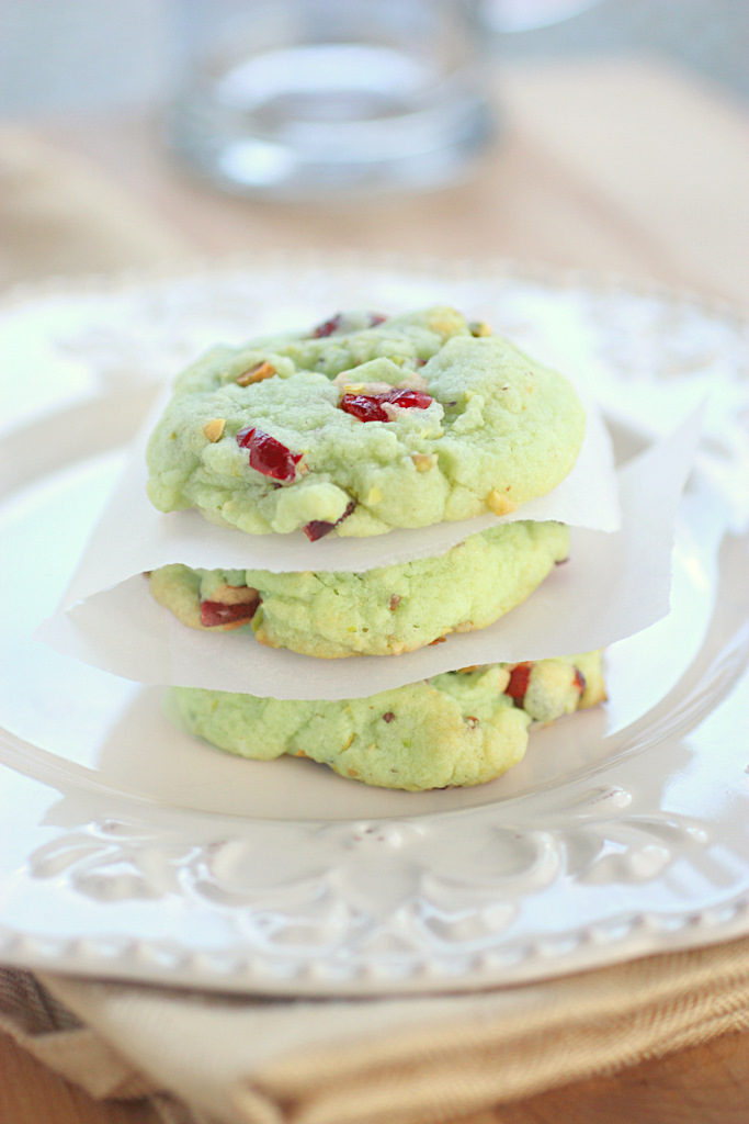 Cran-Pistachio Cookies - The Girl Who Ate Everything