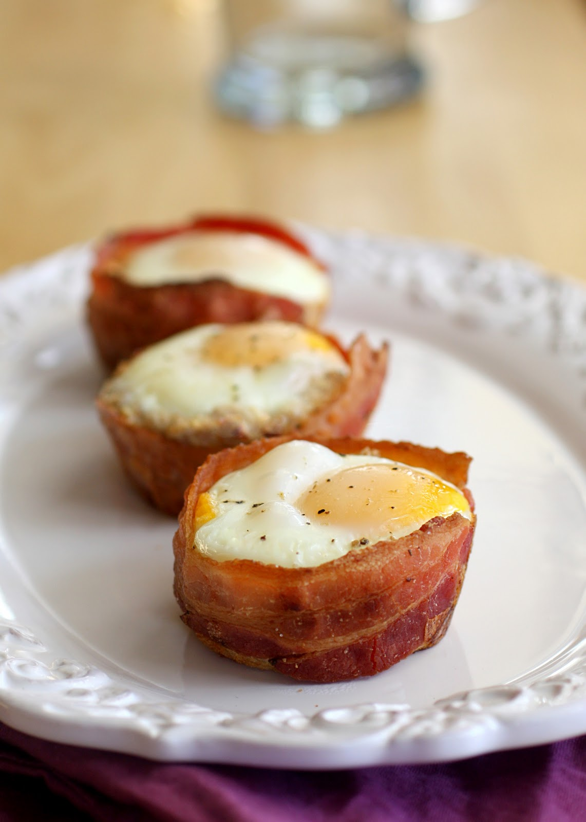 Bacon and Egg Toast Cups - The Girl Who Ate Everything
