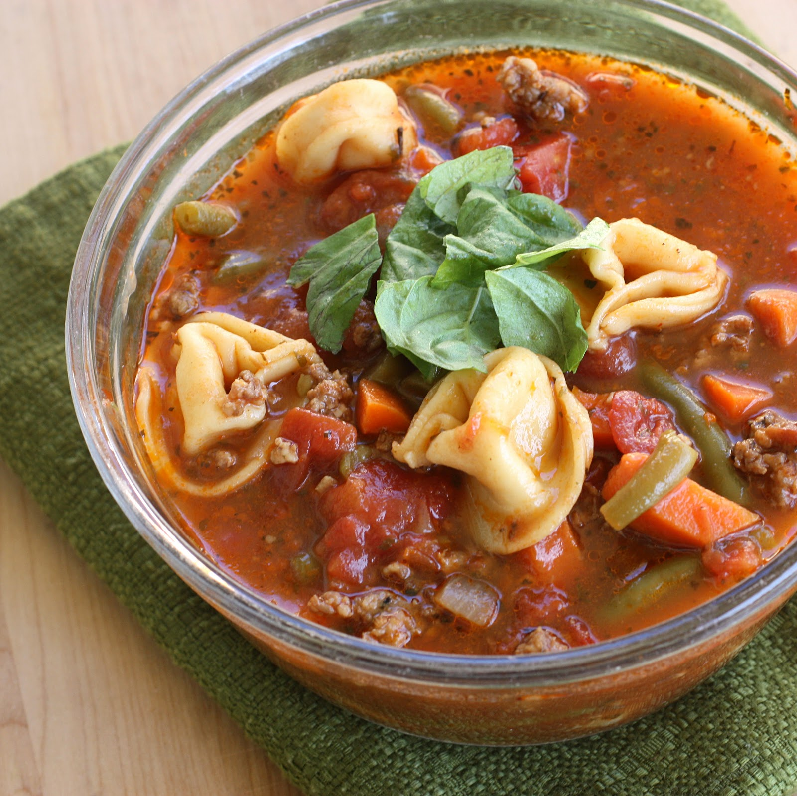 Cheese Tortellini Soup With Turkey Italian Sausage And Kale Recipe ...