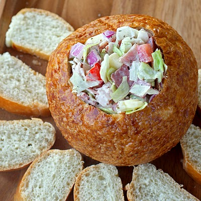Hoagie Dip - tastes like a sub sandwich but in dip form. the-girl-who-ate-everything.com