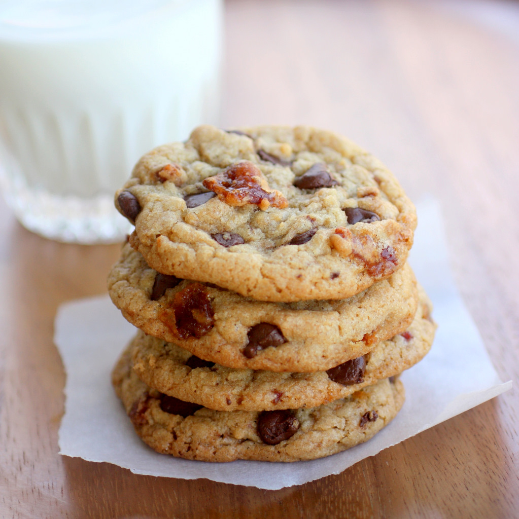 Candied Bacon Chocolate Chip Cookies - The Girl Who Ate Everything