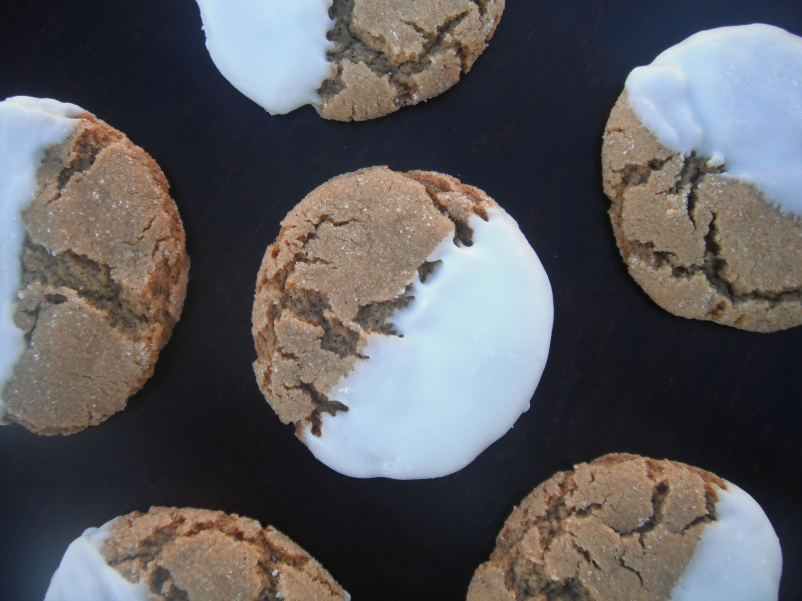 ... Cookies: Soft White Chocolate Dipped Molasses Cookies - The Girl Who